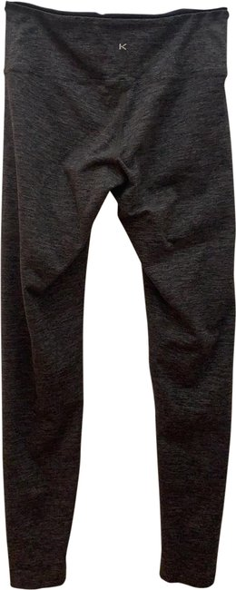 Item - Black/Gray Combo Mid-rise Crop Activewear Bottoms Size 4 (S)