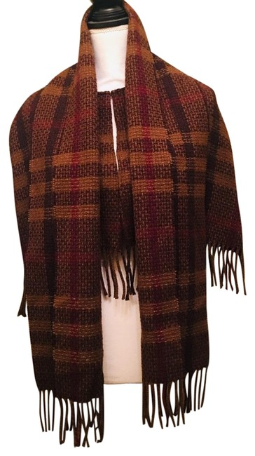 Item - Brown With Scarf Made In England Poncho/Cape Size OS (one size)