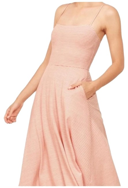 Item - Pink and White Bettie In Lara Stripe Mid-length Casual Maxi Dress Size 4 (S)