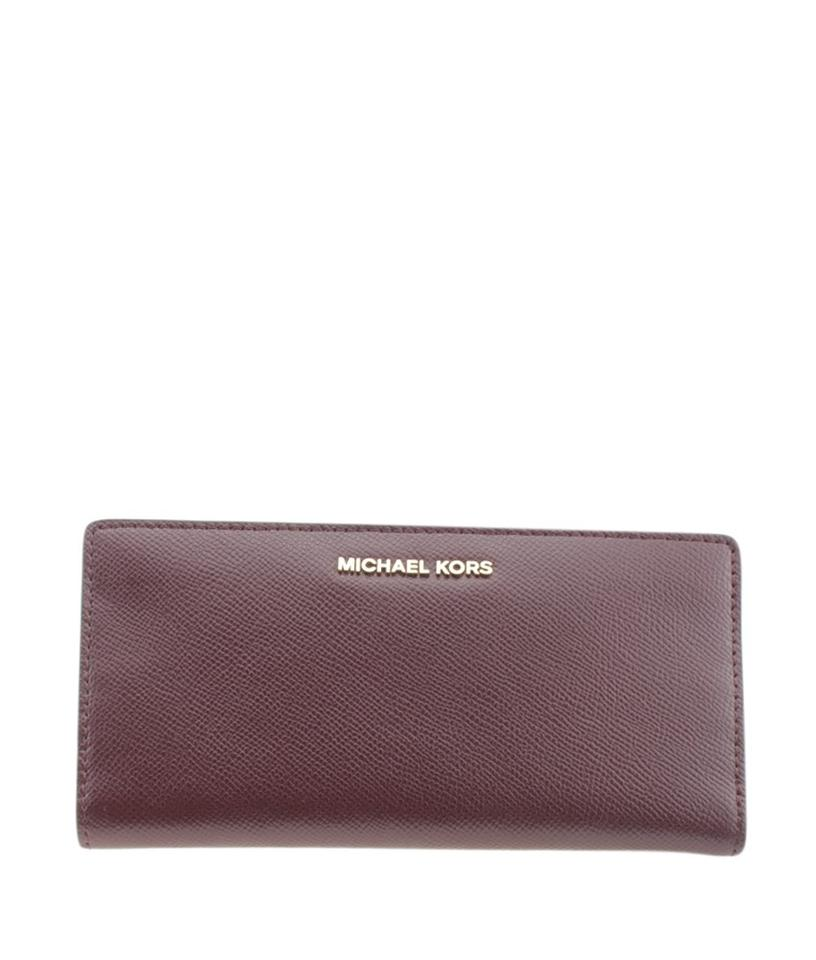 fff21429612b Michael Kors Michael Kors Carryall Burgundy Leather Snap Wallet (167757)  Image 0 ...