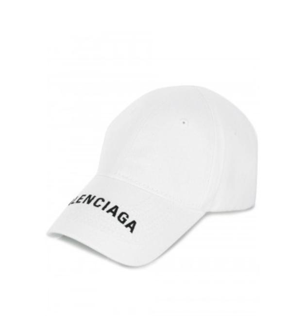 Item - White New Logo Embroidered Cap Hat