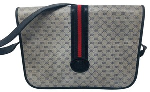 Gucci Blue and Red Strap Messenger Bag