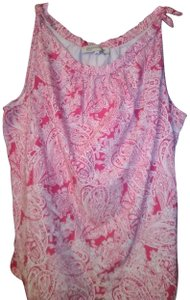 Jones New York Summer Spring Casual Sleeveless Picnic Top Pink