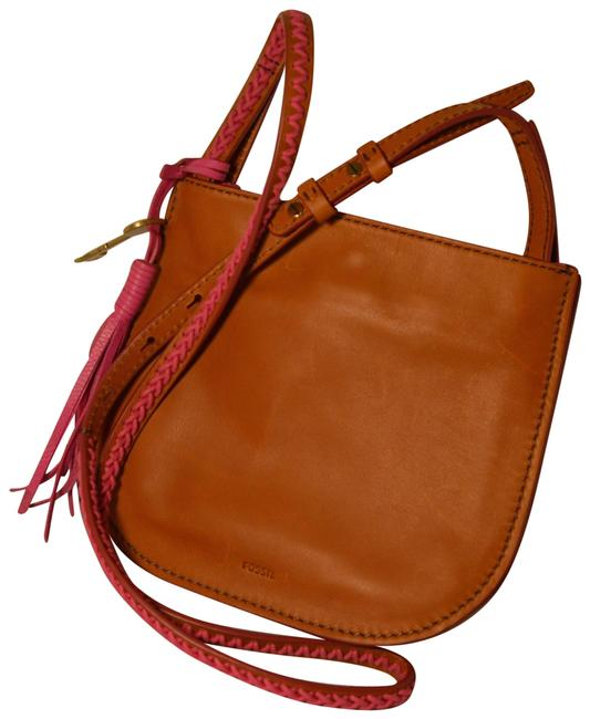 Item - Brooklyn Small Brown/Pink Leather Cross Body Bag
