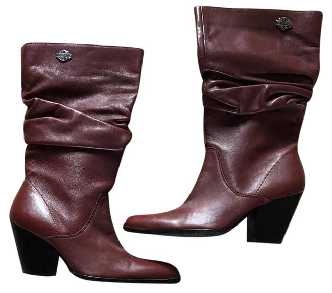 Item - Red (Wine) Heeled Boots/Booties Size US 6 Regular (M, B)