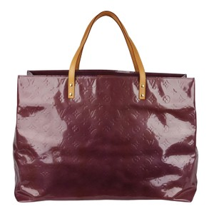 Louis Vuitton Vernis Leather Leather Beach Vintage Tote in Purple