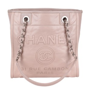 Chanel Classic Beach Vintage Leather Tote in Pink