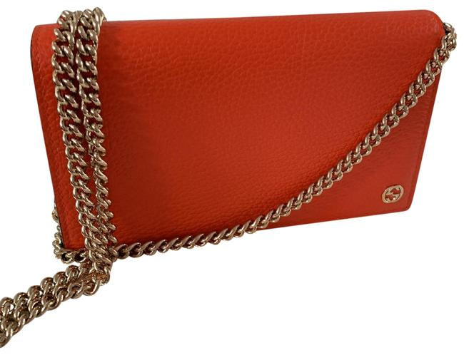 Item - Chain Gg Wallet with Chairs Orange Wristlet