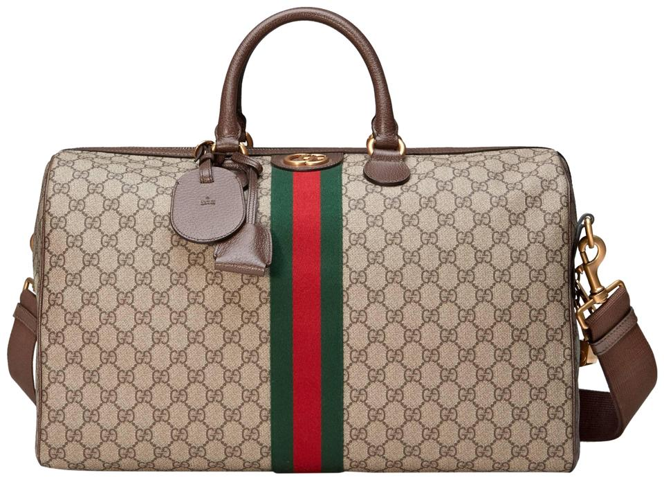7a5c6781414 Gucci Gg Supreme Gg Ophidia Ophidia Gg Medium Gg Duffle Beige Travel Bag  Image 0 ...