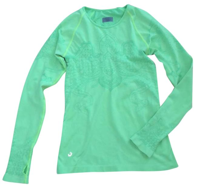 Item - Lime Green Thumb Holes Yellow Trim Thread Activewear Top Size 6 (S)