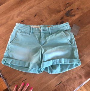 Anthropologie Cuffed Shorts Sea blue