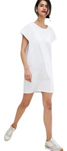 stradivarius short dress White Shift T-shirt Daytime on Tradesy