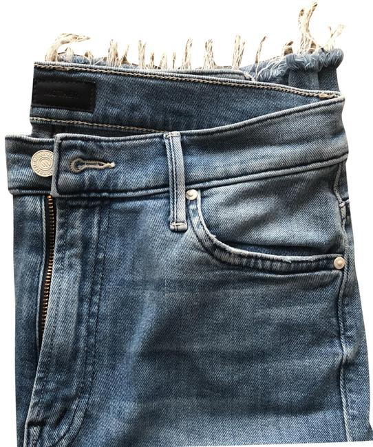 Item - Blue Light Wash Insider Crop Two Step Fray Distressed Ankle Capri/Cropped Jeans Size 4 (S, 27)