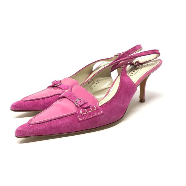 Item - Pink Leather/Suede Slingbacks Made In Italy Pumps Size US 8.5 Regular (M, B)