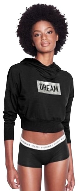 Item - Black Cropped Hoodie Xsmall Activewear Size 2 (XS)