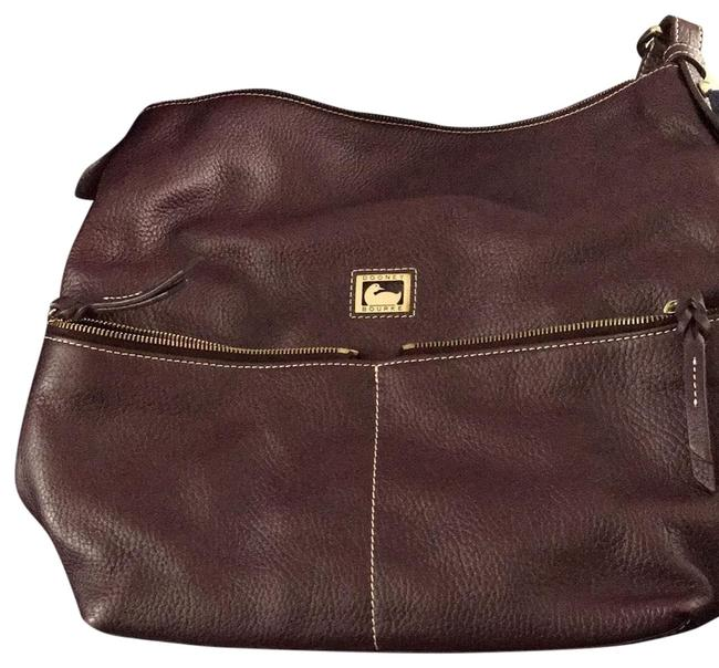 Item - And Dillen Pocket Sac Plum All Weather Leather Messenger Bag