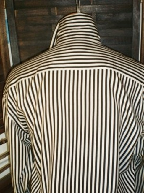 Ann Taylor Top Black and white striped