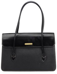 Burberry 9bbush044 Vintage Leather Handbag Shoulder Bag
