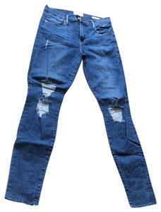FRAME Skinny Jeans-Distressed