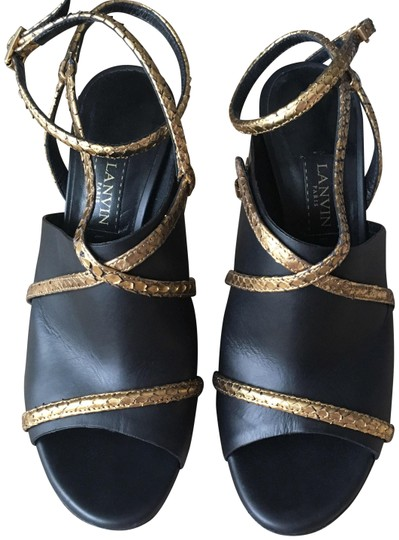 Preload https://img-static.tradesy.com/item/25047301/lanvin-black-gold-and-wrap-around-glove-sandals-size-eu-385-approx-us-85-regular-m-b-0-1-540-540.jpg