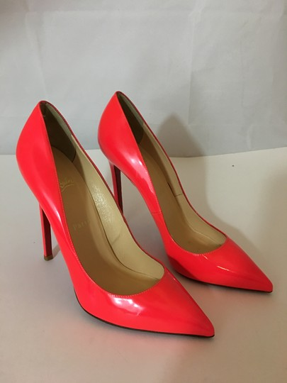 d726e30a6ef ... Christian Louboutin Neon Patent Patent Leather Pointed Toe So Kate  Orange Pumps Image 1