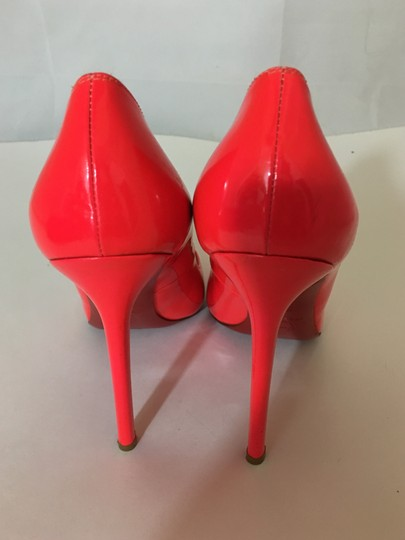 7f20bb261e4 Christian Louboutin Neon Patent Patent Leather Pointed Toe So Kate Orange  Pumps Image 9