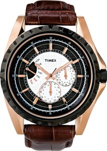 Timex Timex Male Retrograde Watch T2N114 Brown Analog
