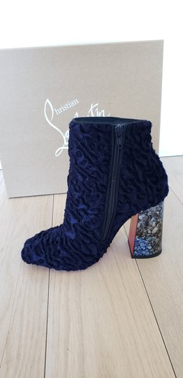 Christian Louboutin Navy Boots Image 4
