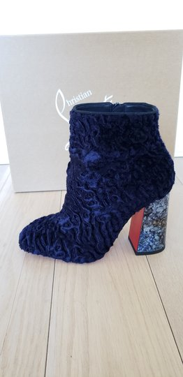 Christian Louboutin Navy Boots Image 8