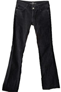 7 For All Mankind Corduroy Low Rise Stretch Winter Boot Cut Jeans-Dark Rinse