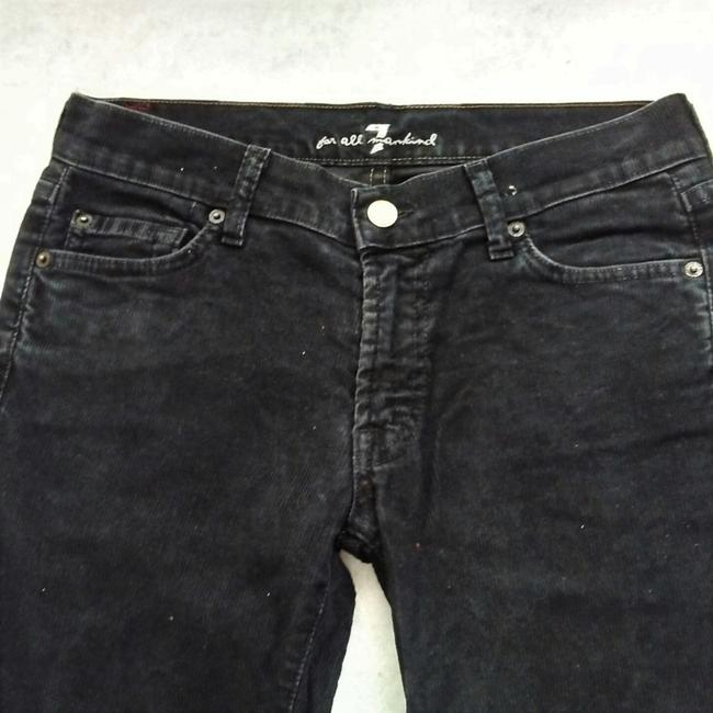 7 For All Mankind Corduroy Low Rise Stretch Winter Boot Cut Jeans-Dark Rinse Image 1