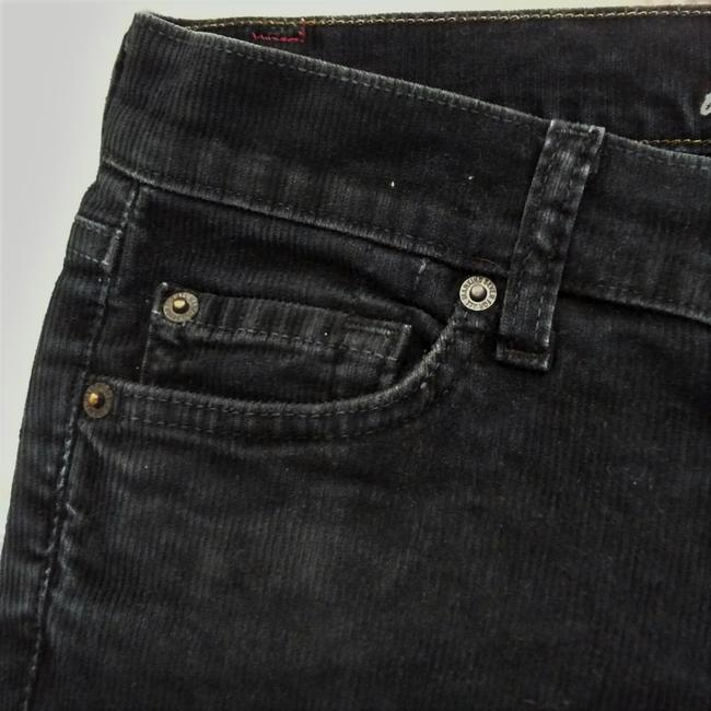 7 For All Mankind Corduroy Low Rise Stretch Winter Boot Cut Jeans-Dark Rinse Image 2