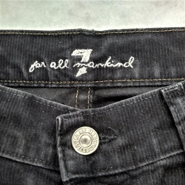 7 For All Mankind Corduroy Low Rise Stretch Winter Boot Cut Jeans-Dark Rinse Image 3