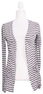 Joie Casual Striped Pockets Cardigan