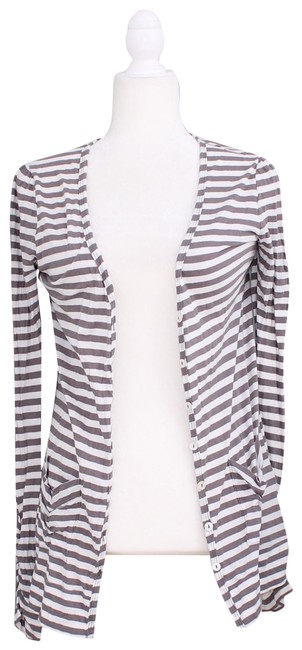 Preload https://img-static.tradesy.com/item/25047698/joie-brown-and-white-striped-button-xs-cardigan-size-2-xs-0-1-650-650.jpg