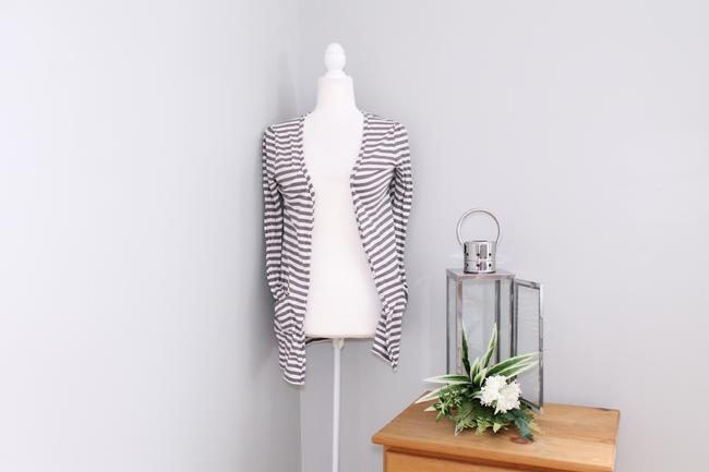 Joie Casual Striped Pockets Cardigan Image 1