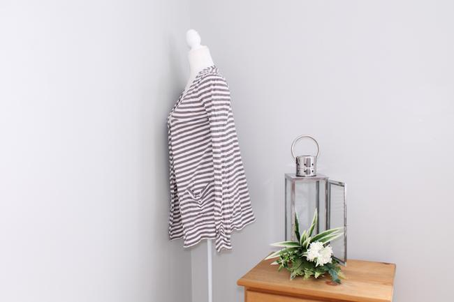 Joie Casual Striped Pockets Cardigan Image 2