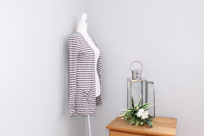 Joie Casual Striped Pockets Cardigan Image 3