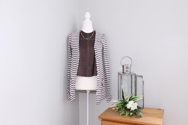Joie Casual Striped Pockets Cardigan Image 4