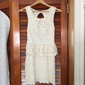 Urban Outfitters Cream Ivory Lace Country Boho Chic Vintage Wedding Dress Size 2 (XS)