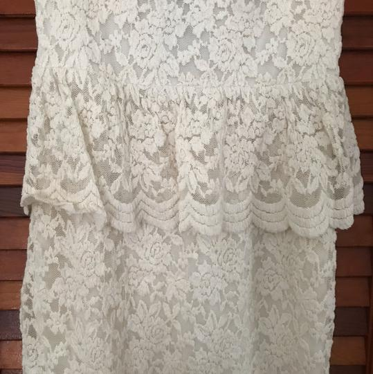 Urban Outfitters Cream Ivory Lace Country Boho Chic Vintage Wedding Dress Size 2 (XS) Image 1