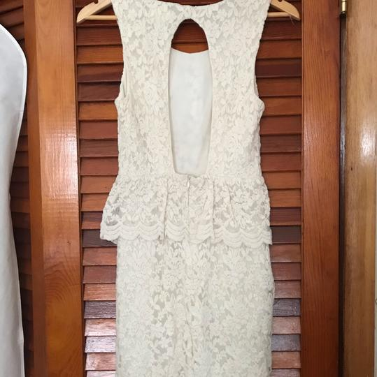 Urban Outfitters Cream Ivory Lace Country Boho Chic Vintage Wedding Dress Size 2 (XS) Image 3