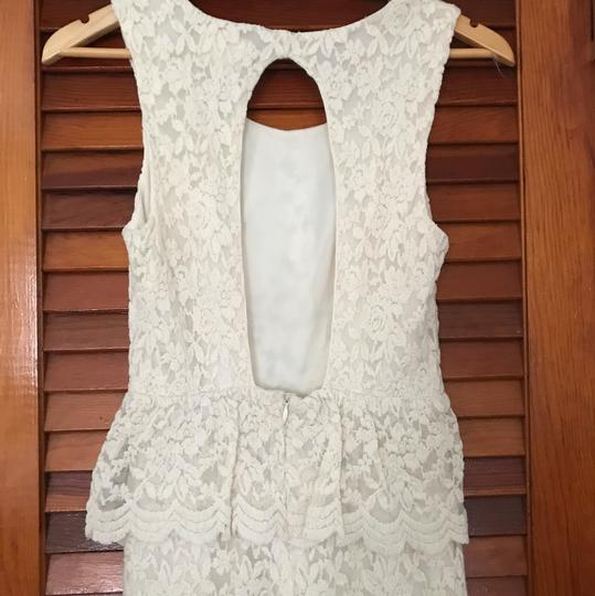 Urban Outfitters Cream Ivory Lace Country Boho Chic Vintage Wedding Dress Size 2 (XS) Image 4