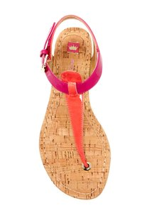 Elaine Turner Blogger Cruise Anthropologie Pink Coral Thong Sandals