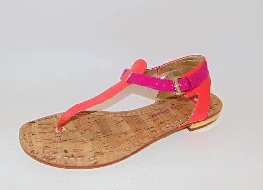 Elaine Turner Blogger Cruise Anthropologie Pink Coral Thong Sandals Image 1