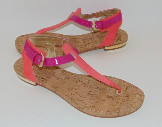 Elaine Turner Blogger Cruise Anthropologie Pink Coral Thong Sandals Image 2