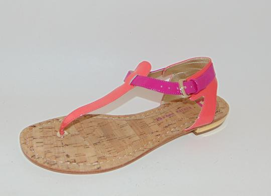 Elaine Turner Blogger Cruise Anthropologie Pink Coral Thong Sandals Image 4