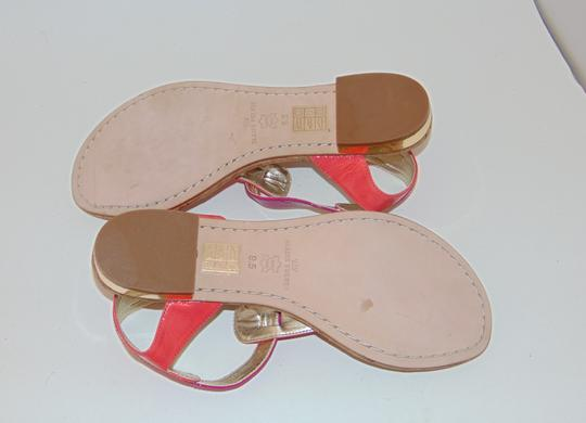 Elaine Turner Blogger Cruise Anthropologie Pink Coral Thong Sandals Image 5