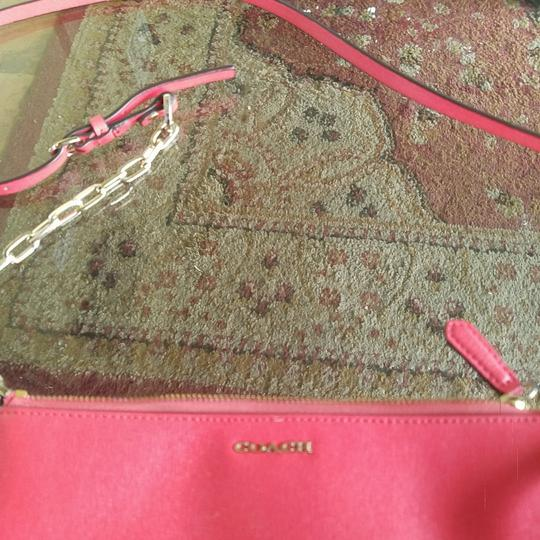 Coach Leather Gold Cross Body Bag Image 1