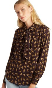 Emerson Fry Chic Animal Print Top Tigers